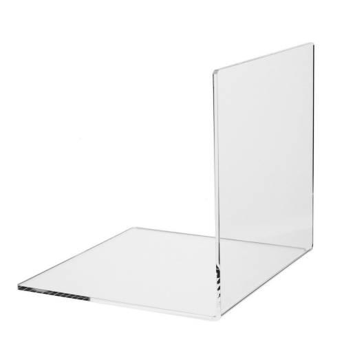 buchst tze buchwinkel 20x20cm aus acrylglas. Black Bedroom Furniture Sets. Home Design Ideas