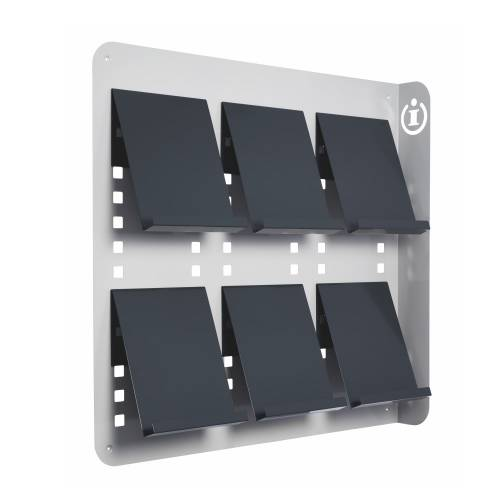 Din a4 wandprospekthalter mit 6 ablagen for 4 wand filmproduktion