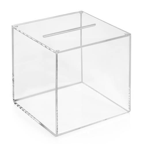 losbox 15x15x15cm aus acrylglas. Black Bedroom Furniture Sets. Home Design Ideas