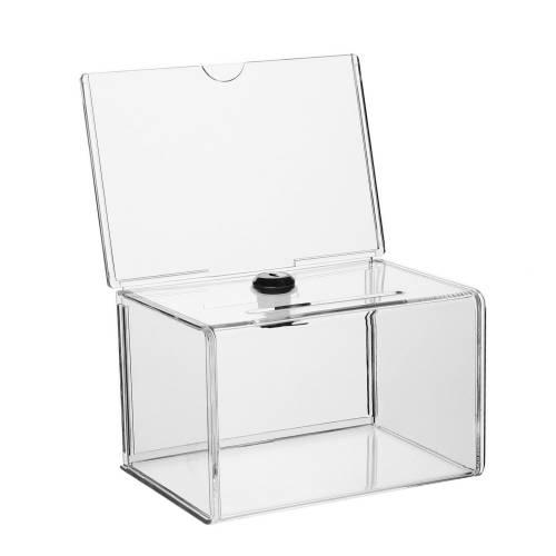 spendenbox mit schlo und topschild din a6. Black Bedroom Furniture Sets. Home Design Ideas