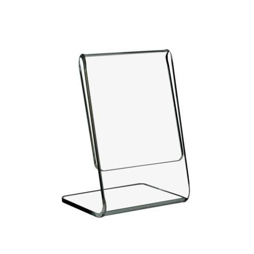 L-Ständer DIN A9 Hoch aus Acrylglas